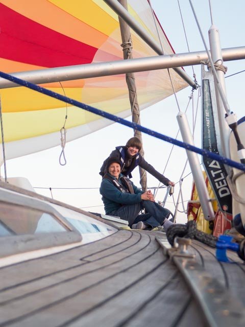Kim and Devon Sailing down Baja